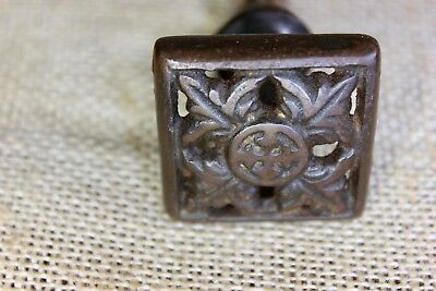 "1 1/2"" square Drawer pull knob interior shutter furniture old decorated iron"