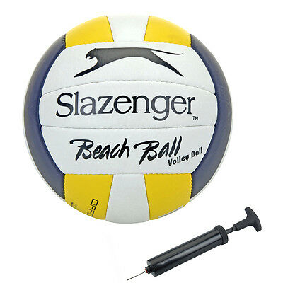Slazenger Volleyball mit Pumpe Beachvolleyball Beach Trainingsball Spiel-Ball