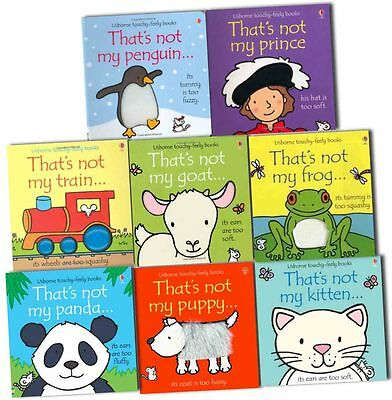 Thats Not My Touchy Feely Collection 8 Books Pack Set By Fiona Watt-Frog, Puppy,