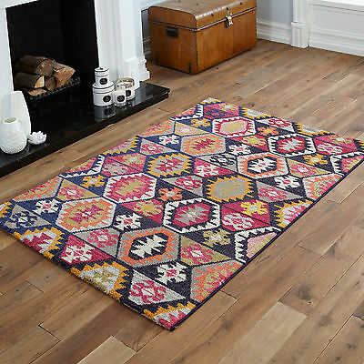 Modern Large Small Geometric Rug 12mm Thick Quality Clearance Sale Soft Rugs