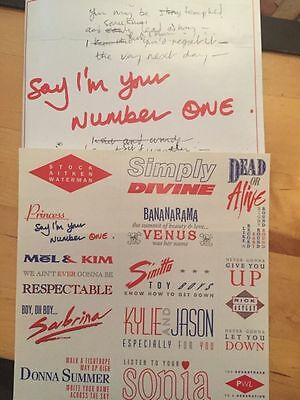 STOCK AITKEN WATERMAN :SAY I'M YOUR NUMBER ONE Booklet And Stickers No CDs PWL