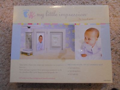 New My Little Impressions Hand Print Or Footprint Keepsake Kit With Frame