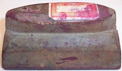 Vintage Old Wooden Sari Saree Textile Fabric Hand Stamp Wooden Block, India