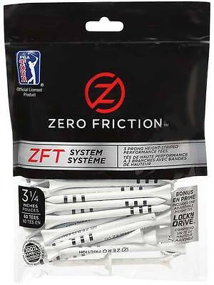 "ZERO Friction ZFT System Bamboo Wooden - 60 Tees - Size 3.25""  - FREE POSTAGE"