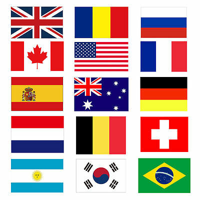 HOT! 3'x5' FT World Country National Polyester European America Asia Flags