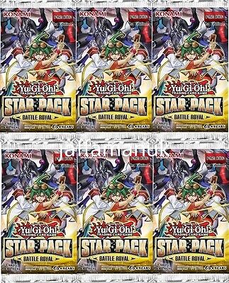 Yu-Gi-Oh Star Pack Battle Royal Booster x 6