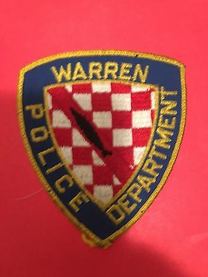 Warren Rhode Island Police  Shoulder Patch   Old Used