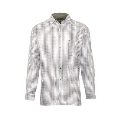 Tattersall Cotton Shirt For Shooting / Hunting In Blue, Green & Wine Check