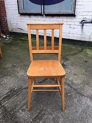 Solid Ash & Beach Chapel Chairs Church Chairs Antique Style