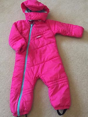 Girls Pink Wedze Snow Ski Suit Age 3 Fab Condition