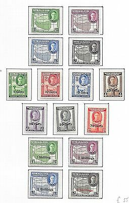 Somaliland stamps 1942 collection of 15 stamps  MLH  VF   HIGH VALUE!