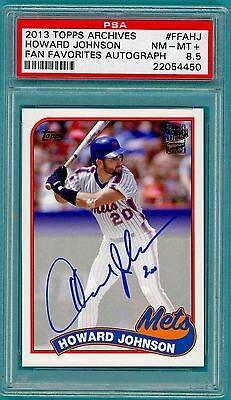 2013 Topps Archives Howard Johnson Auto Issue - #FFAHJ PSA 9! Mets! POP 1!