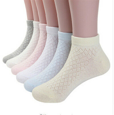 5pairs mesh cotton ankle sock for baby girls cozy breathable kids short socks TB