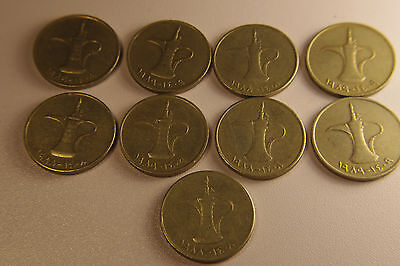 Lot of 9 United Arab Emirates - 1 Dirham    B31