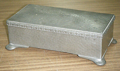Vintage Hand Hammered Abbey Pewter Cigarette / Cigar Box