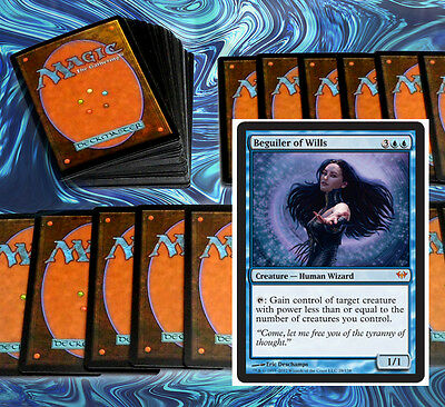 mtg BLUE UNBLOCKABLE DECK Magic the Gathering rare cards beguiler of wills