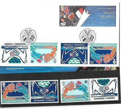 Great Britain - 1994 Channel Tunnel Royal Mail Presentation Pack (FDC & MNH Set)