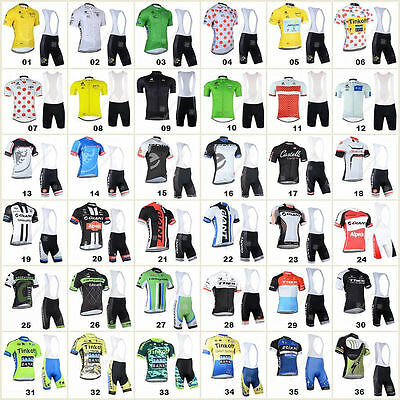 Bicycle Team Cycling Jersey Bib Shorts Kits Breathable Bike Clothing Cycle Wear