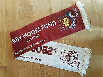 Supporting The Bobby Moore Fund 2009 West Ham United  Scarve