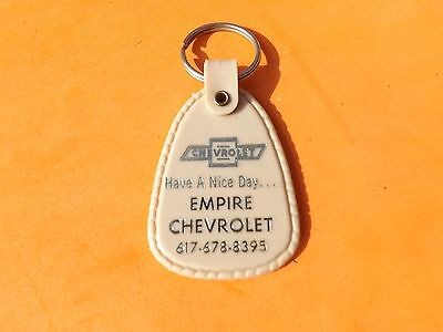 Vintage EMPIRE Chevrolet Dealership Key Chain Fall River Mass Free SHip