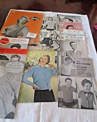 Collection Vintage Knitting Patterns Incl. Bestway And Weldons