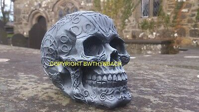 New Design Rubber Latex Mould Moulds Mold To Make Medium Gothic Celtic Skull S3