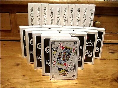 10 DECKS of CARLSBERG PLAYING CARDS~BRAND NEW & SEALED~REDUCED to $19.99