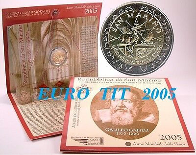 2 €    Saint Marin   Commemorative     2005 .  130 000 Ex   Rare  /   Disponible
