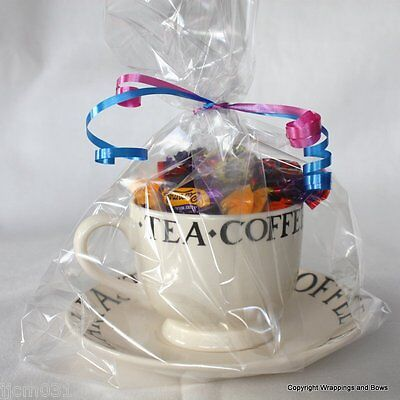 """Extra Large Clear Cellophane / Cello Gift Bags - 14 x 8.5 x 3"""" Choose Quantity"""