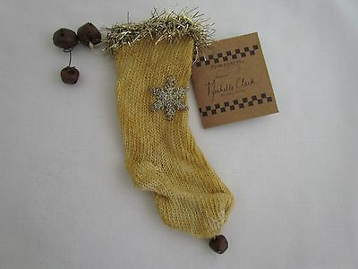 Small Tea Stained Christmas Stocking Ornaments ~ Primitives by Kathy 4pc 14976