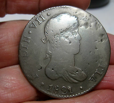 1821 CG (DURANGO) MEXICO (SILVER) 8 REALES ----WAR of INDEPENDENCE--VERY RARE--