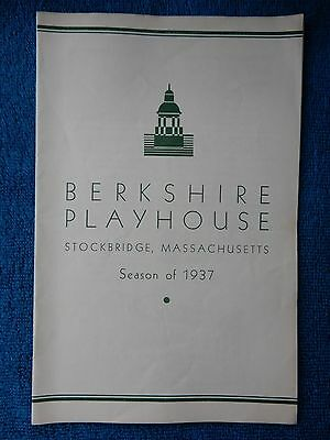 Tonight At 8:30 - Berkshire Playhouse Theatre Playbill - August 16th, 1937
