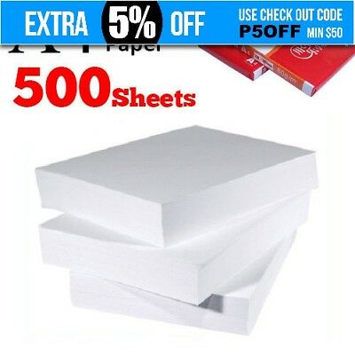 500 Sheets (1 Ream) Number One A4 80gsm Printing Copy Paper Laser Ink-jet