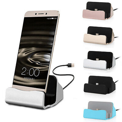 Desktop Charging Dock Stand Station Charger Micro USB Mobile Phones with Cable