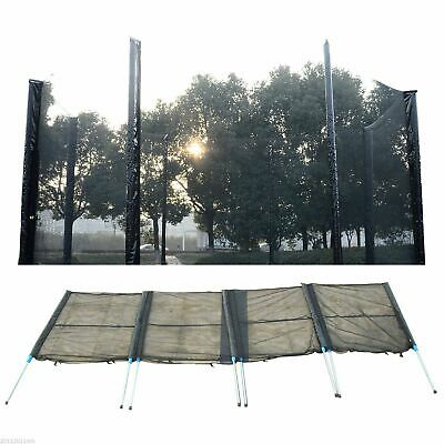 14ft Trampoline Net Enclosure Safety Fence Mesh w/ 8 Poles 16 Tubes Home Gym