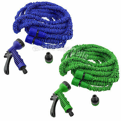Expandable Flexible 20/50/75/100FT Magic Water Hose Pipe with Spray Nozzle LOT