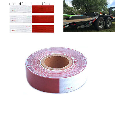 """2""""x150' Dot-C2 Reflective Conspicuity Safety Tape Trailer Tankers 6""""red 6"""" White"""