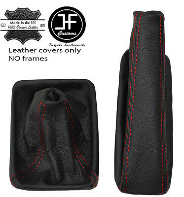 RED STITCH LEATHER AUTOMATIC GEAR GAITER+PLASTIC FRAME FOR INFINITI Q50 13-17