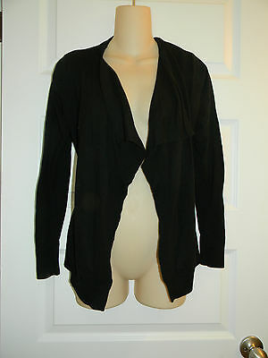 Old Navy Maternity Black Cotton Open Draped Front Cardigan Sz S Small!