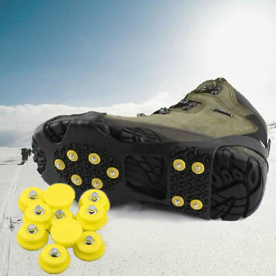 Non-slip Cleats Anti-Slip Overshoes Studded Snow Ice Traction Shoe Spike Covers