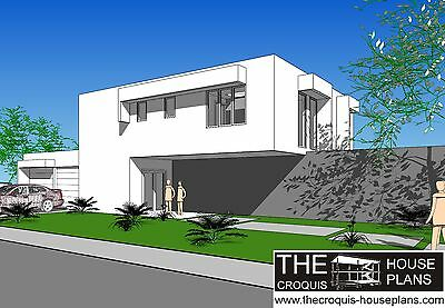 The Croquis House Plans - Concrete House Croquis of Model MW-3