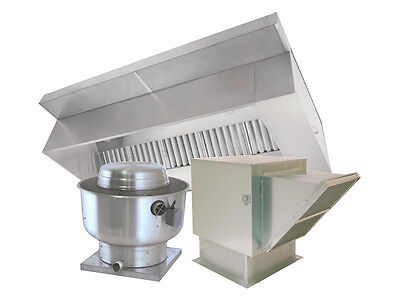 9 ft Restaurant Hood System with Exhaust & Supply Fans
