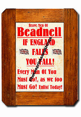 Northumberland - Beadnell - Ww1 Style - Repro Town Recruitment Poster