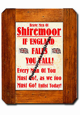 Tyne & Wear - Shiremoor - Ww1 Style - Repro Town Recruitment Poster