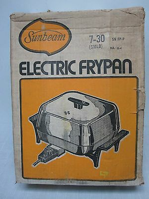 "Vintage 1976 Sunbeam 7-30 12"" Dome Aluminum Electric Fry Pan Mint In Box! New!"