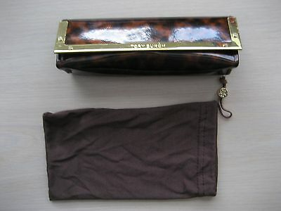 Tory Burch Eyeglass Case/case  Brown With Gold Trim
