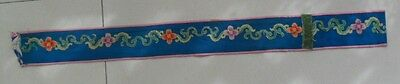Chinese old hand embroidery silk waistbelt