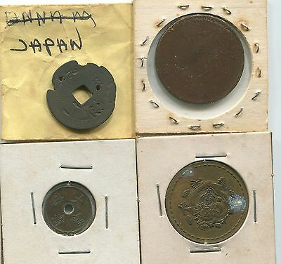 Miscellaneous Foreigh  Lot Of 4  Old Coins -   We Combine Shipping