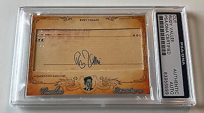 Rudy Vallee Timeless Signatures Actor Singer Signed Auto Custom CARD 1/1 PSA/DNA