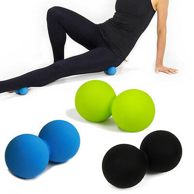 Double Lacrosse Ball Myofascial Trigger Point Release Peanut Massage Ball  LAUS